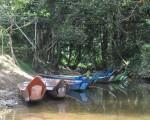 伊班族使用该长舟作为交通工具